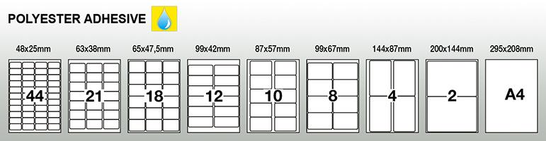 Klebeetiketten-Laserdrucker-PET