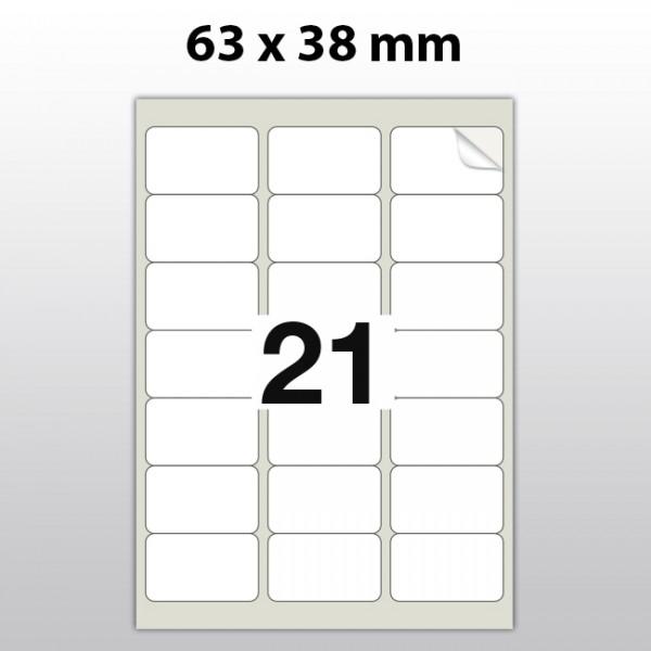 Klebeetiketten aus Polyester für Laserdrucker LA63380