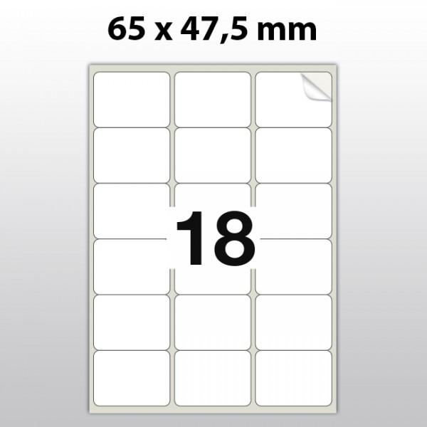 Klebeetiketten aus Polyester für Laserdrucker LA65475