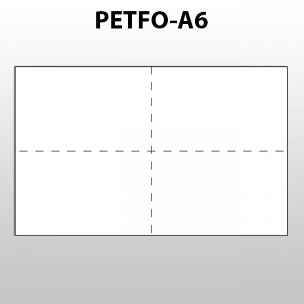 Blattware aus Polyester für Laserdrucker A6