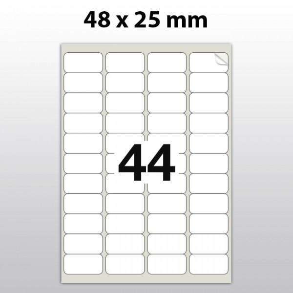 Klebeetiketten aus Polyester für Laserdrucker LA48250