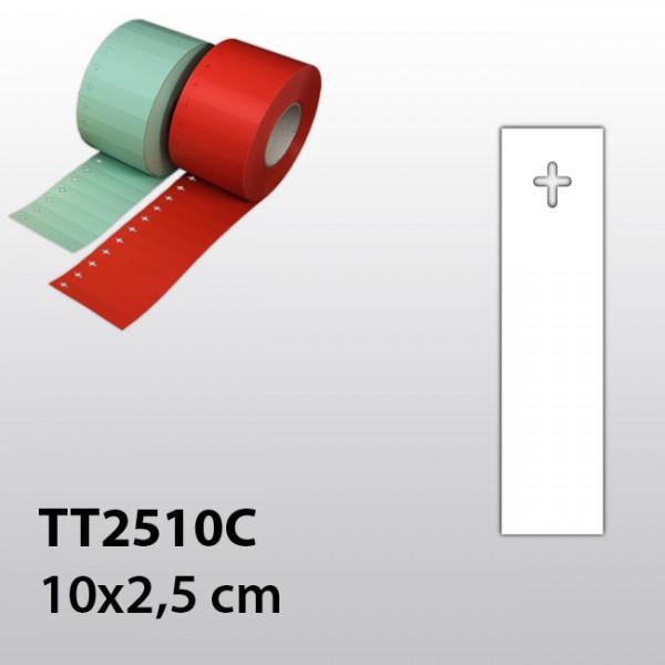Etiketten mit kreuzförmigem Loch TT2510C