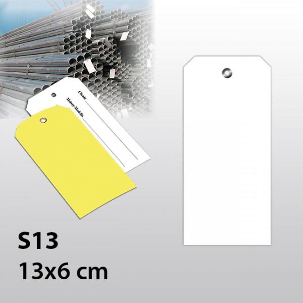 S13-Warenanhänger aus Kunststoff 13x6 cm